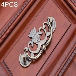 4-delige Bronze zink legering kledingkast geneeskunde kabinet meubilair lade handvat  grootte: Small-30g(Bronze)