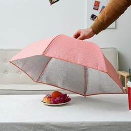 Opvouwbare voedsel Cover houd voedsel Warm aluminiumfolie Cover  roze bloemen patroon  grootte: 80 * 80 * 17 cm
