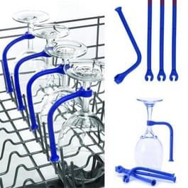 4-delige siliconen Wijnglas houder vaatwasser Cup Fixer(Blue)