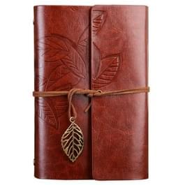 Creatieve Retro herfst bladeren patroon losbladige dagboek reisdagboek  grootte: L (bruin)