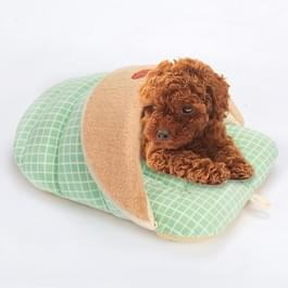Slipper vorm Warm dikker honden katten huis  grootte: M  42 Ã 33 Ã 26 cm (gras groen)