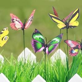 50 stuks kleurrijke vlinders tuin Ornament bloempot Plant Decor Stick Vlindertuin decoratie simulatie Butterfly  willekeurige kleur levering