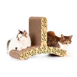 CP-085 T-vormige kat klimmer gegolfd papier Cat Scratch Board slijpen klauw speelgoed