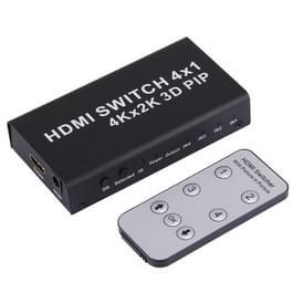 4K HDMI Schakelaar 1.4b 4 in 1 uit Switcher met Picture-in-Picture (PIP) functie HD 4K*2K 3D PIP Converter  met afstands bediening
