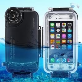 HAWEEL voor iPhone 6 Plus & 6s Plus 40m / 130ft waterdichte duiken huisvesting Foto Video nemen onderwater Cover Case(Black)