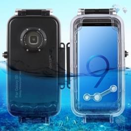 HAWEEL 40m / 130ft waterdichte duiken huisvesting Foto Video nemen onderwater Cover Case voor Galaxy S9(Black)