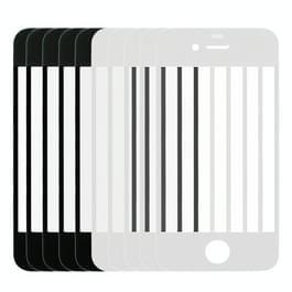 5 stuks Black + 5 stuks wit voor iPhone 4 Front scherm Outer glazen Lens