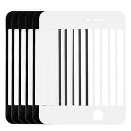5 stuks Black + 5 stuks wit voor iPhone 4 & 4S voorste scherm buitenste glaslens
