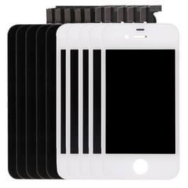 5 stuks Black + 5 stuks 3 in 1 voor iPhone 4S White (LCD + Frame + touchpad) Digitizer vergadering