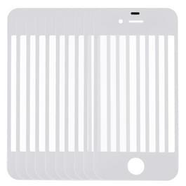 10 stuks voor iPhone 4 & 4S Front scherm buitenste glas Lens(White)