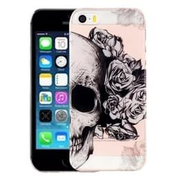 Voor iPhone 5 & 5s & SE schedel patroon IMD vakmanschap TPU beschermende softcase