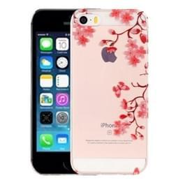 Voor iPhone 5 & 5s & SE Maple laat patroon IMD vakmanschap TPU beschermende softcase