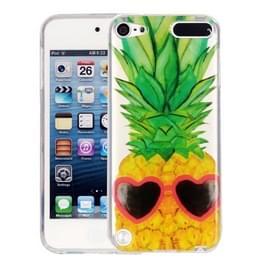 Voor iPod Touch 5 ananas patroon IMD vakmanschap zachte TPU beschermende hoes
