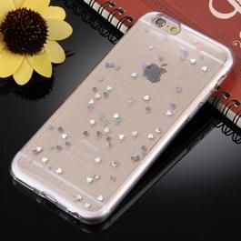 Voor iPhone 6 & 6s Glitter poeder transparante zachte TPU back cover beschermhoes