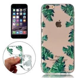Voor iPhone 6 & 6s groen blad patroon TPU beschermhoes