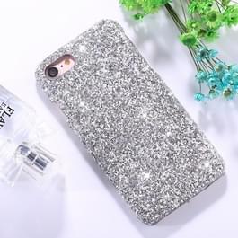 iPhone 6 & 6S Kleurrijk mozaiek achtig patroon Kunststof back cover Hoesje (zilverkleurig)