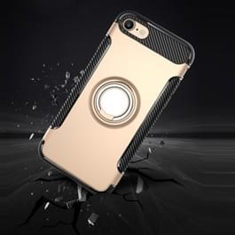 Voor iPhone 6 & 6s magnetische 360 graden rotatie Ring Armor beschermende Case(navy)