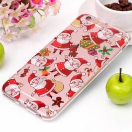 Voor iPhone 6 & 6s Santa Claus patroon hoge transparantie TPU beschermende softcase