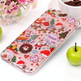 Voor iPhone 6 & 6s kerst Speeltuin patroon hoge transparantie TPU beschermende softcase