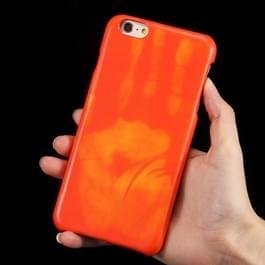 Voor iPhone 6 Plus & 6s Plus hitte gevoelige telefoon Case Silicone beschermende geval terug Cover(Red)