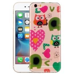 Voor iPhone 6 Plus & 6s Plus liefde uilen patroon IMD vakmanschap TPU beschermende softcase