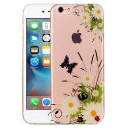 Voor iPhone 6 Plus & 6s Plus wit chrysant patroon IMD vakmanschap TPU beschermende softcase