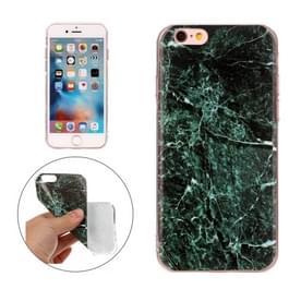 Voor de iPhone 6s Plus & 6 Plus donker groen marmer patroon TPU beschermende softcase