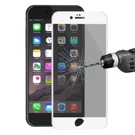 ENKAY Hat-Prins voor iPhone 6 Plus de 6s Plus de 0 26 mm 9H & oppervlakte hardheid 3D Ultra-thin Carbon Fiber Privacy Anti-Glare volledige scherm getemperd glas beschermende Film(White)