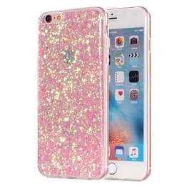 Voor iPhone 6 Plus & 6s Plus Glitter poeder zachte TPU beschermende Case(Pink)