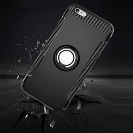 Voor iPhone 6 Plus & 6s Plus magnetische 360 graden rotatie Ring Armor beschermende Case(navy)