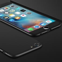 GKK voor iPhone 6 Plus & 6s Plus PC drie fase Splicing 360 graden volledige beschermende hoes back cover(Black)