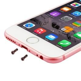 100 stuks voor iPhone 6s & 6s Plus universele opladen poort Screws(Rose Gold)