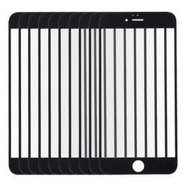10 stuks voor iPhone 6s Front scherm buitenste glas Lens(Black)