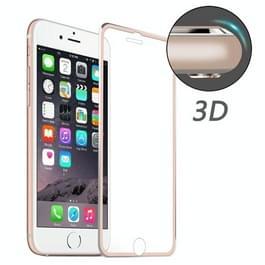 ENKAY voor iPhone 8 & iPhone 7 Hat-Prins 0.2mm 9H oppervlakte hardheid 3D aluminiumlegering gebogen rand explosieveilige getemperd glas scherm Protector(Rose Gold)