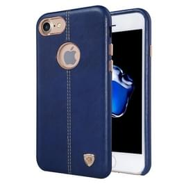 NILLKIN Englon Case voor iPhone 7 Business stijl Crazy Horse leder oppervlak PC beschermende geval backcover met zachte Microfiber Lining(Dark Blue)