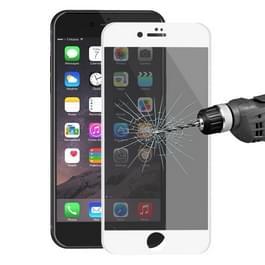 ENKAY Hat-Prins voor iPhone 8 & iPhone 7 0 26 mm 9H oppervlakte hardheid 3D Ultra-thin Carbon Fiber Privacy Anti-Glare volledige scherm getemperd glas beschermende Film(White)