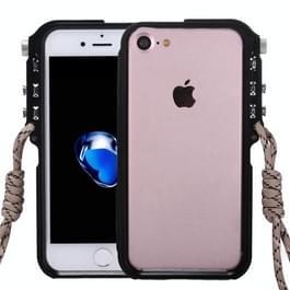 Voor iPhone 8 & 7 4e Design Trigger aluminium Metallic Bumper Frame(Black)