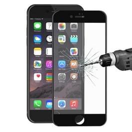 ENKAY voor iPhone 8 & iPhone 7 superdun 0.2mm 9H oppervlakte hardheid zachte Carbon Fiber 3D Curverd Arc explosieveilige getemperd glas volledige scherm Film(Black)
