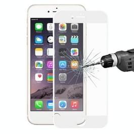 ENKAY voor iPhone 8 & iPhone 7 superdun 0.2mm 9H oppervlakte hardheid zachte Carbon Fiber 3D Curverd Arc explosieveilige getemperd glas volledige scherm Film(White)
