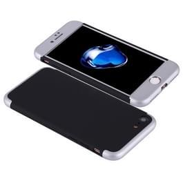iPhone 7 & 8 omhullend driedelig beschermend Kunststof GKK Hoesje (zwart + zilverkleurig)