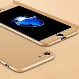 iPhone 7 & 8 omhullend driedelig beschermend Kunststof GKK Hoesje (goudkleurig)
