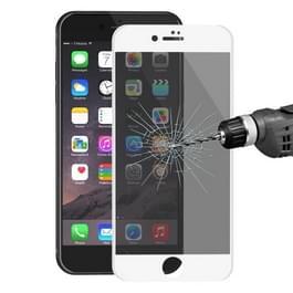 ENKAY Hat-Prins voor iPhone 8 & 7 Plus 0 26 mm 9H oppervlakte hardheid 3D Ultra-thin Carbon Fiber Privacy Anti-Glare volledige scherm getemperd glas beschermende Film(White)