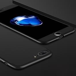 iPhone 7 Plus & 8 Plus omhullend driedelig beschermend Kunststof GKK Hoesje (zwart)