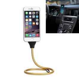 Multi-functionele metaal Soft Slang Palm houder 8 pins op USB Sync lader datakabel met Flexible Desk / functie Auto Dock  voor iPhone X / iPhone 8 & 8 Plus / iPhone 7 & 7 Plus / iPhone 6 & 6s & 6 & 6s Plus / iPhone 5 & 5S & SE & 5C(Gold)