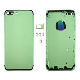 6 in 1 voor iPhone 7 Plus (backcover + kaarthouder Volume Control-toets + Power knop + Mute Switch Vibrator-toets + teken) volledige vergadering huisvesting dekken (groen + zwart)