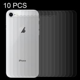 10 stuks voor iPhone 8 & 7 0.3mm 9H oppervlakte hardheid 2.5D gebogen rand explosieveilige Premium getemperd glas terug Screen Protector