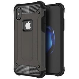 iPhone X Robuust pantser beschermend TPU + plastic back cover Hoesje (bronskleurig)
