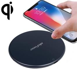 Ulefone UF002 ronde 10W snel opladen Qi Wireless Charger Pad  voor iPhone  Galaxy  Huawei  Xiaomi  LG  HTC en andere slimme Phones(Black)