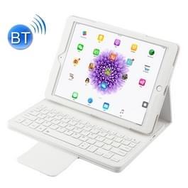 Voor iPad Pro 9 7 inch / iPad Air 2 / iPad Air /iPad 9 7 (2018) & iPad 9 7 (2017) Afscheidbare in contracten ABS Bluetooth Keyboard + Litchi textuur horizontale Flip lederen draagtas met Holder(White)