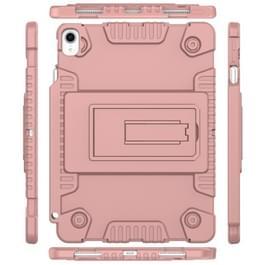 Volledige dekking silicone schokbestendig Case voor iPad Pro 11 inch (2018)  met verstelbare houder (Rose goud)